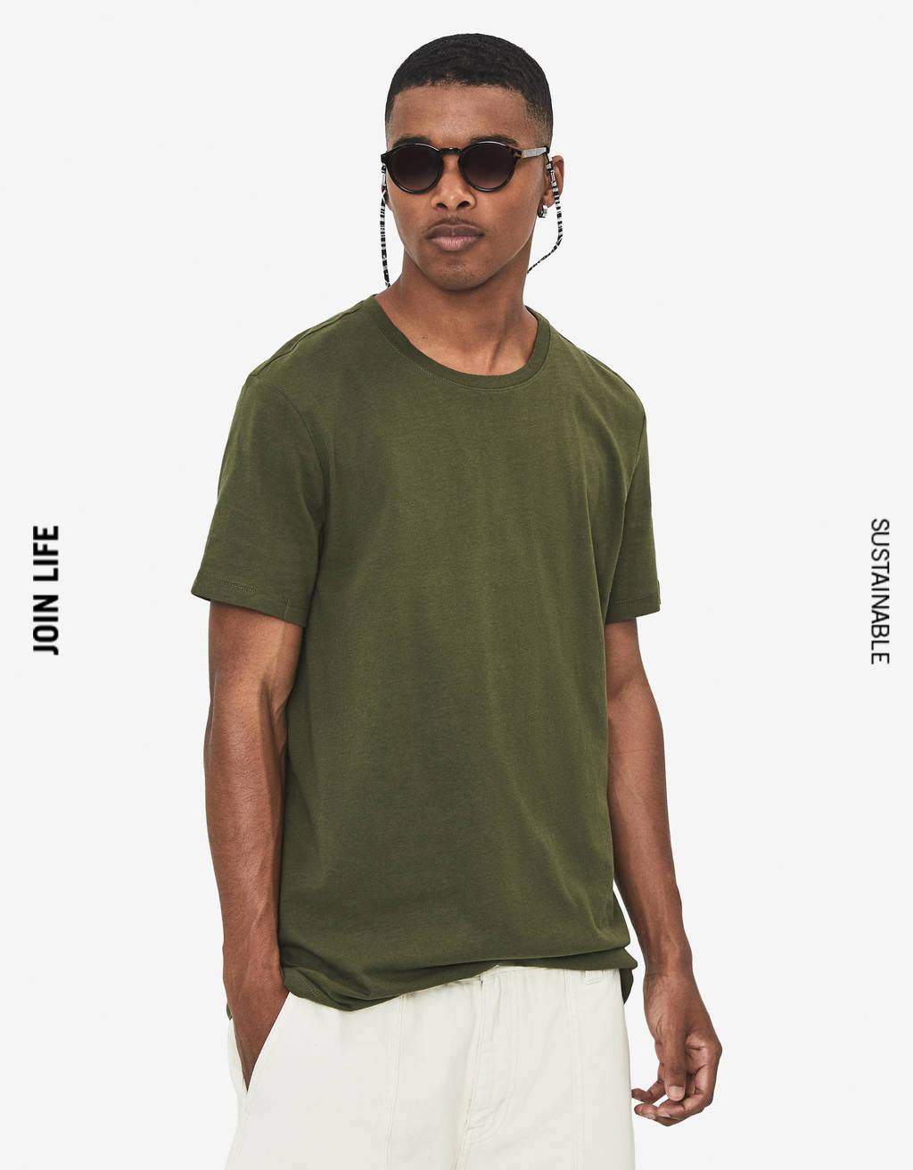 Maglietta con collo rotondo