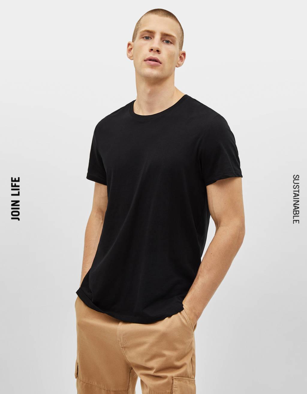 Camiseta con cuello redondo