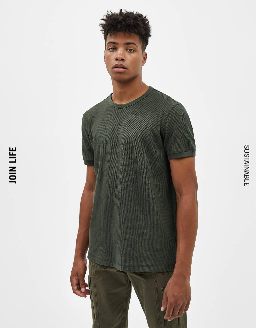 Vaflinės tekstūros marškinėliai
