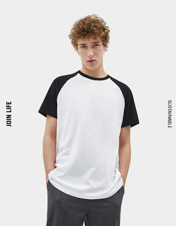 Baseball-style T-shirt