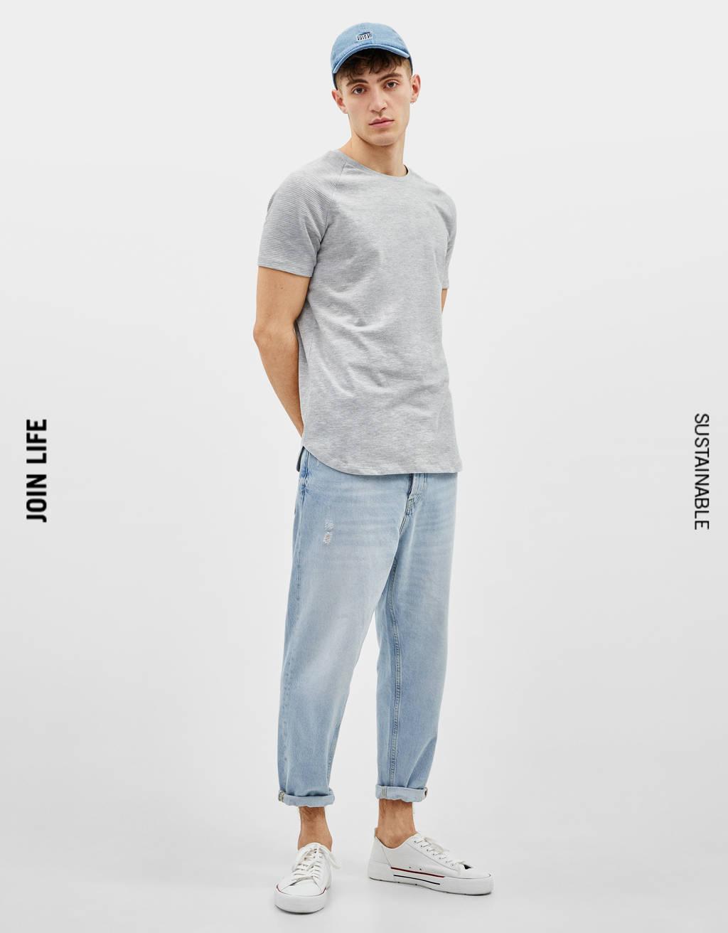 Marškinėliai reglano rankovėmis