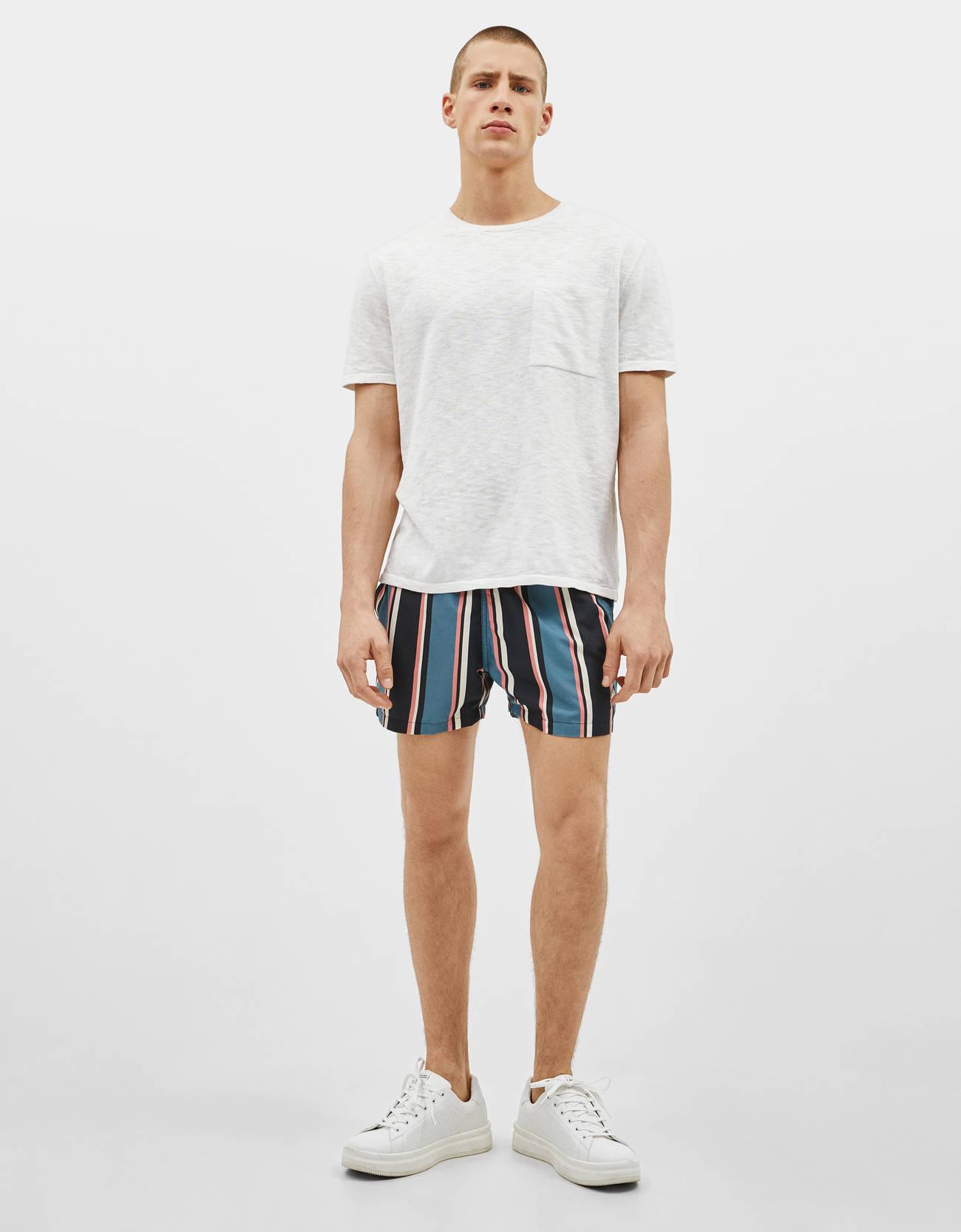 bda80a130b Striped swim trunks - Swimwear - Bershka United States