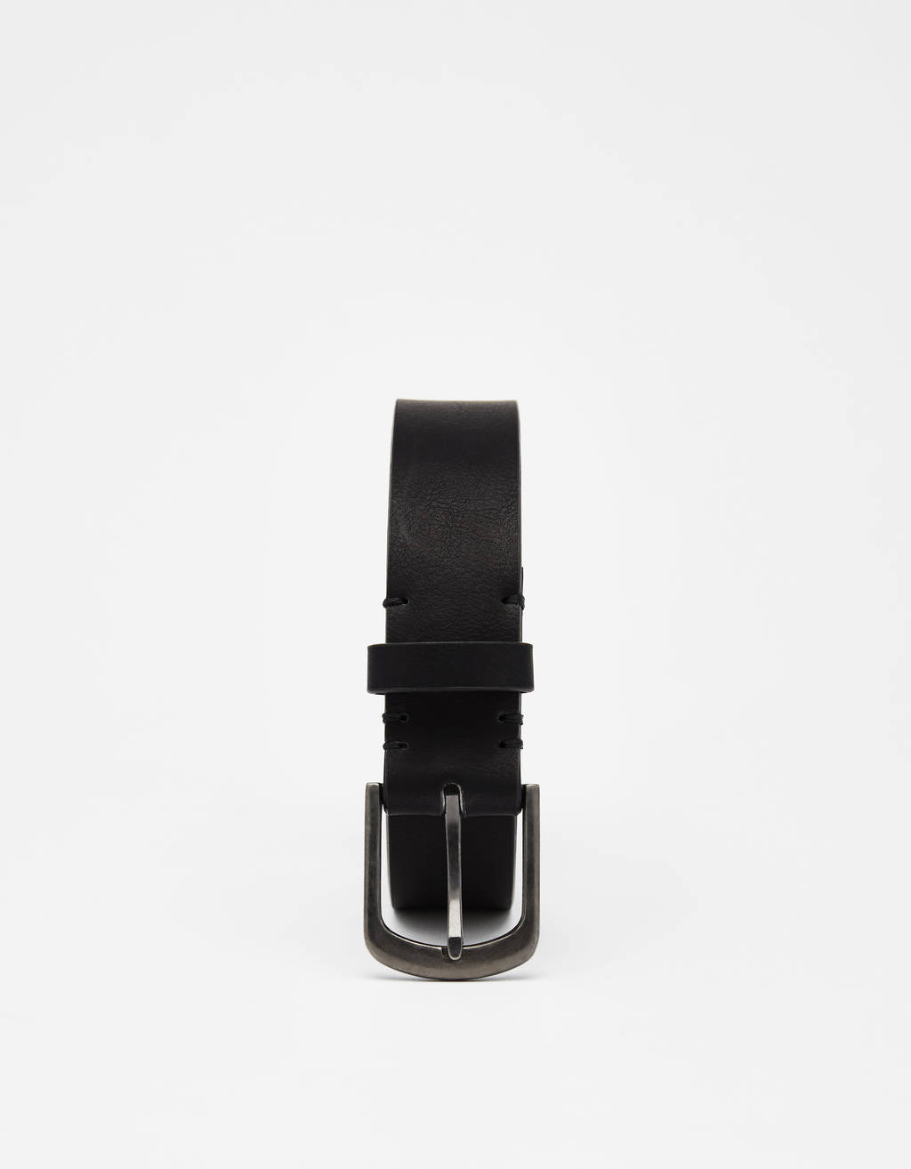 Wide faux leather belt