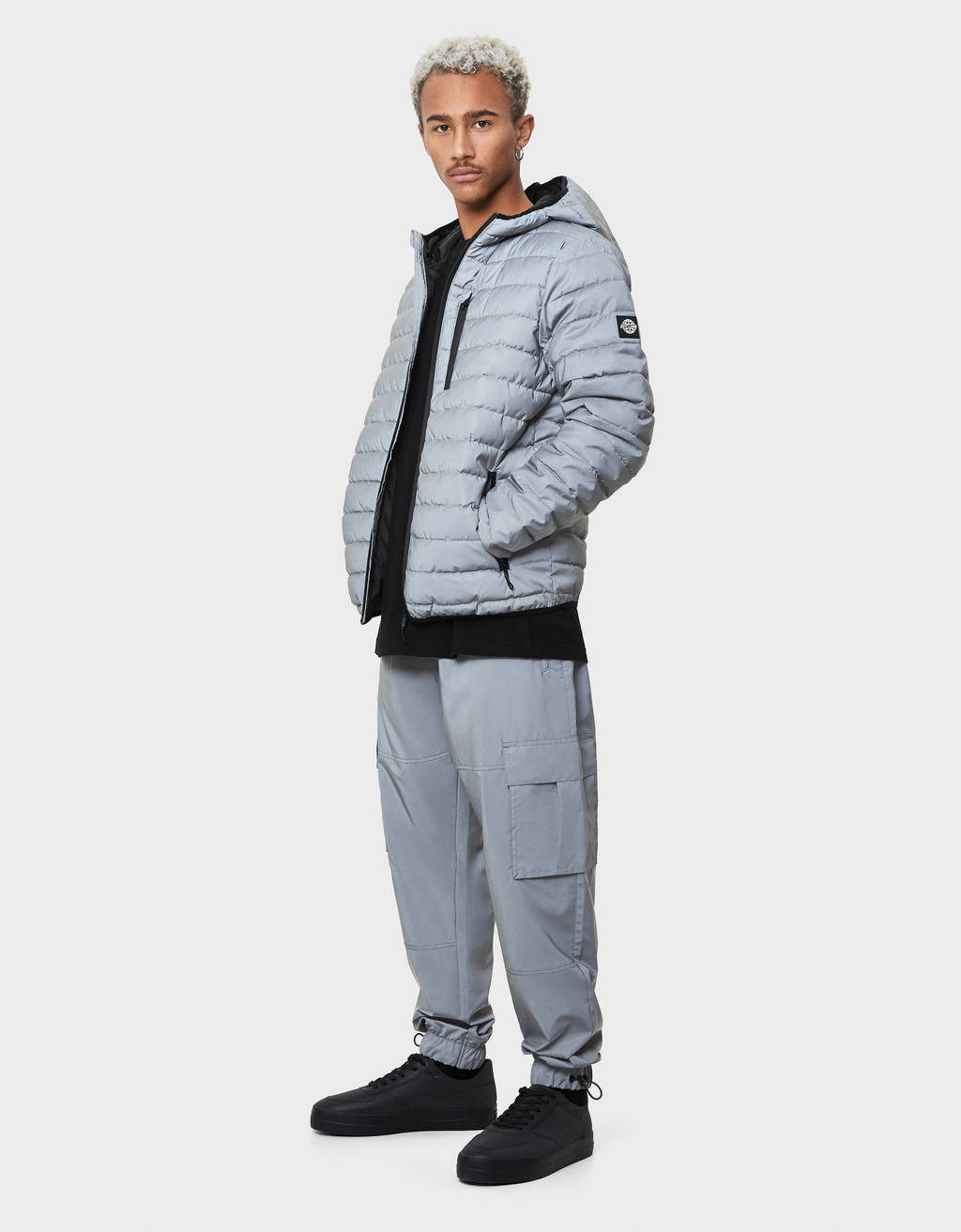 Reflective cargo trousers