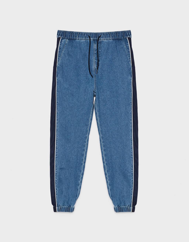 sehr bequem attraktive Farbe ungleich in der Leistung Jogging jeans with side strip