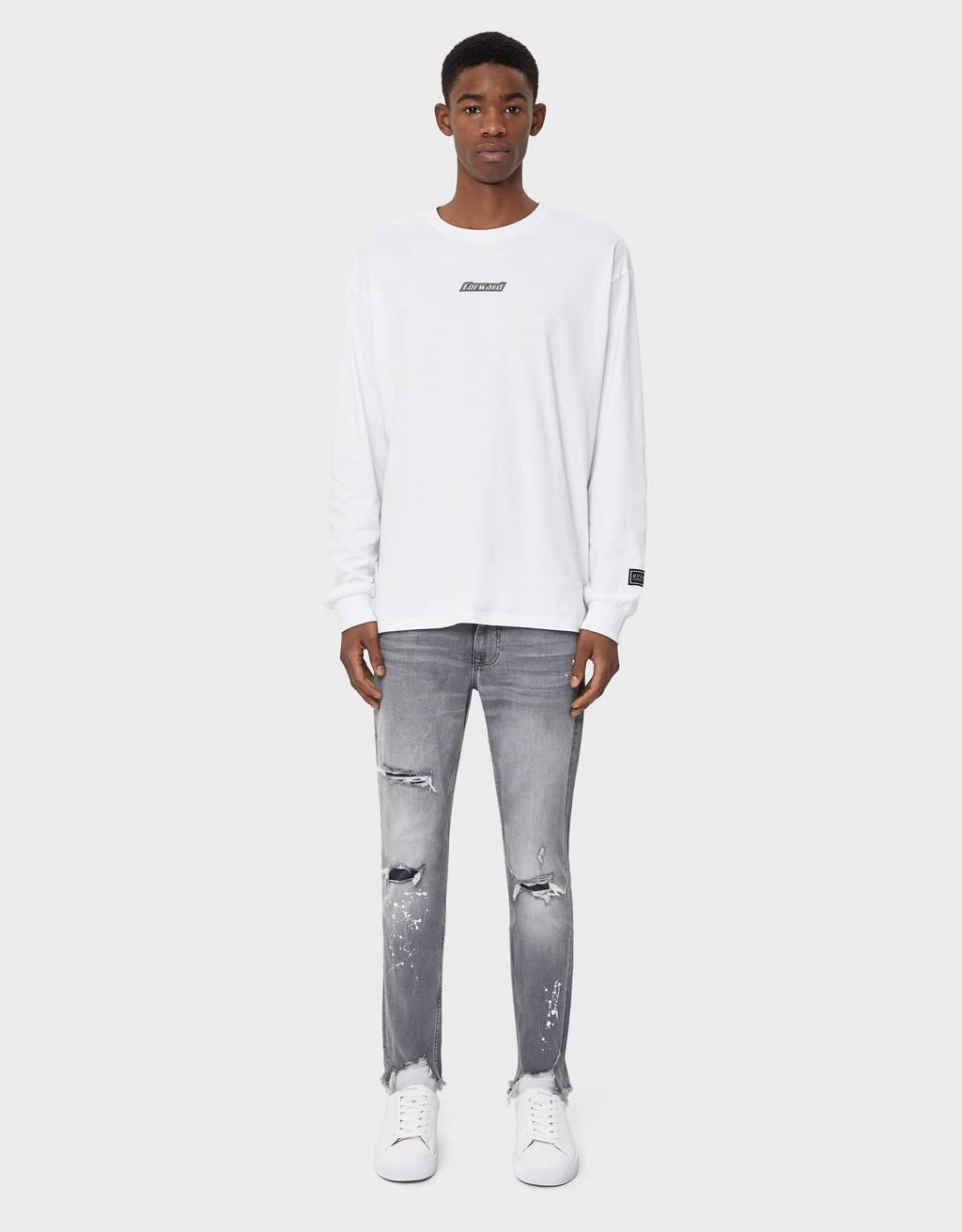 Skinny traperice s mrljama boje