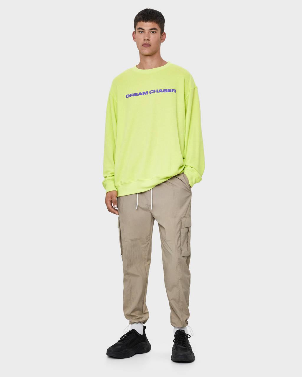 Pantalon cargo en nylon