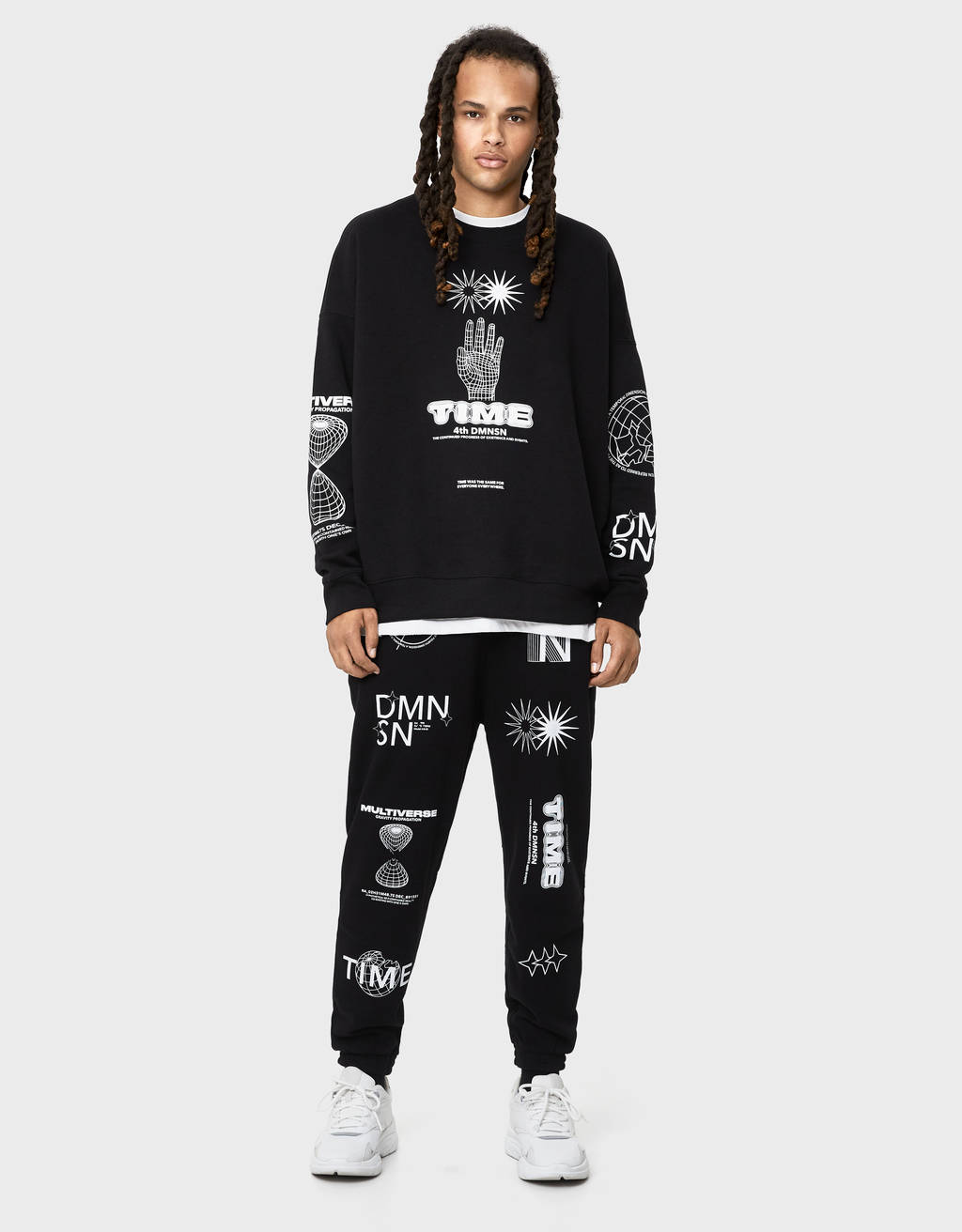 Jogging trousers with print