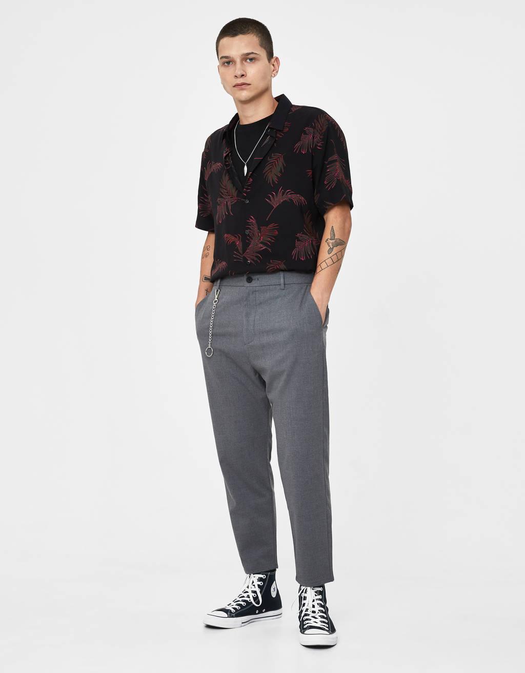 Loose fit broek met schakels