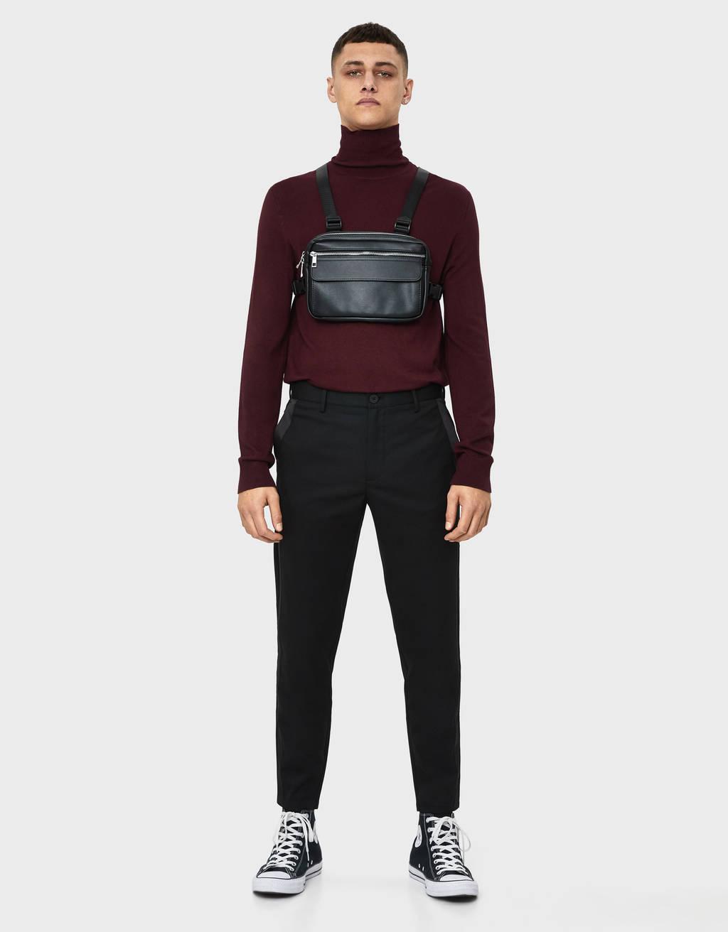 Pantalon skinny fit avec bande latérale