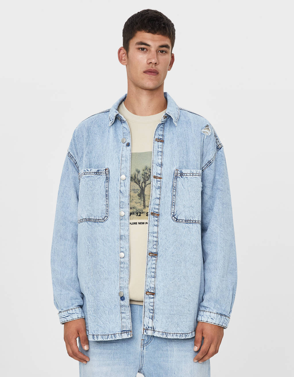 Oversized denim overshirt
