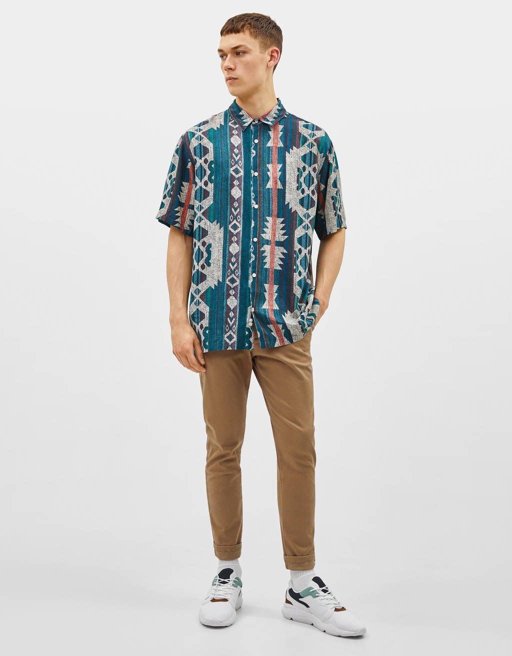 Krekls ar ģeometrisku apdruku