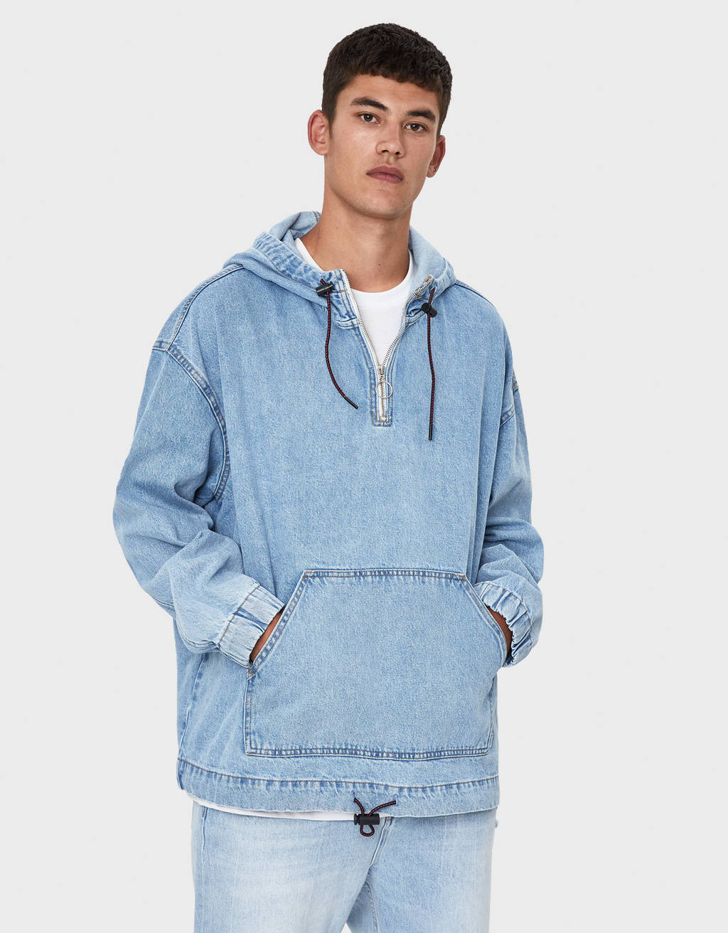 Denim capuchonjack