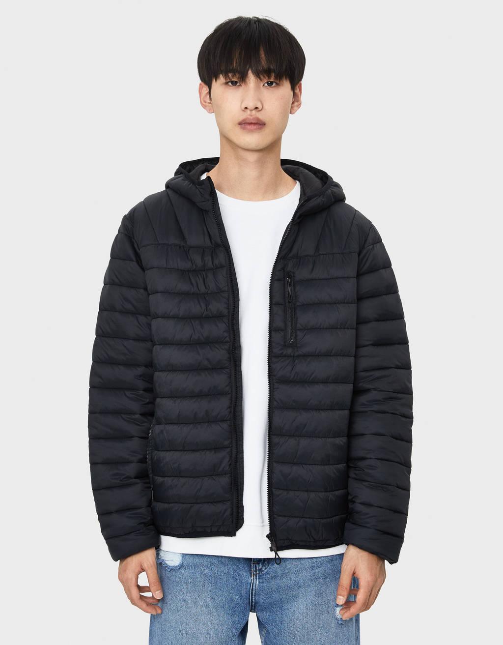 Prošivena jakna s kapuljačom