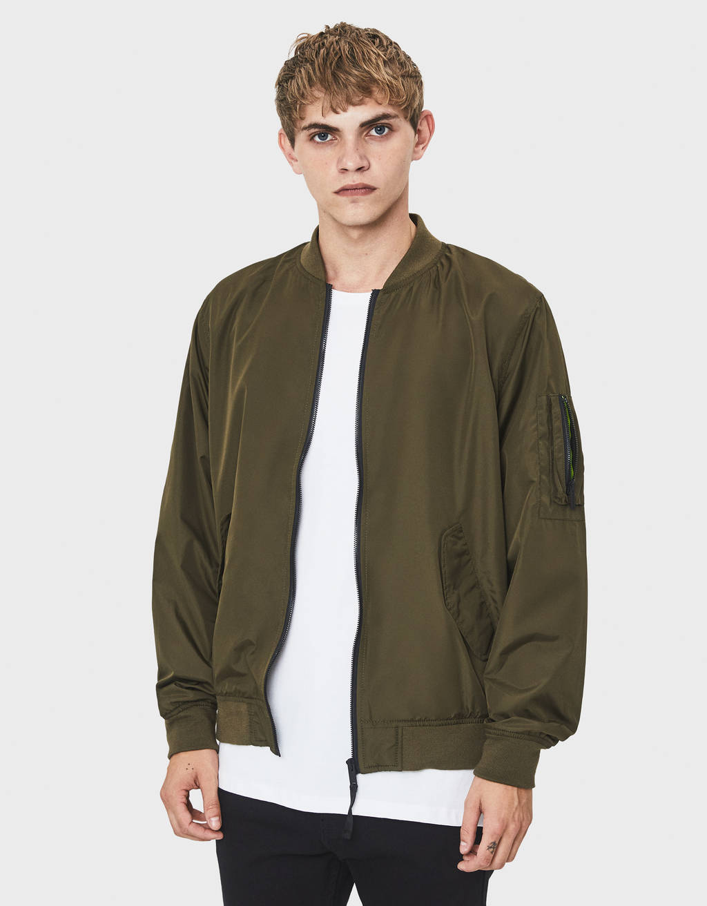 Nylon bomber jacket