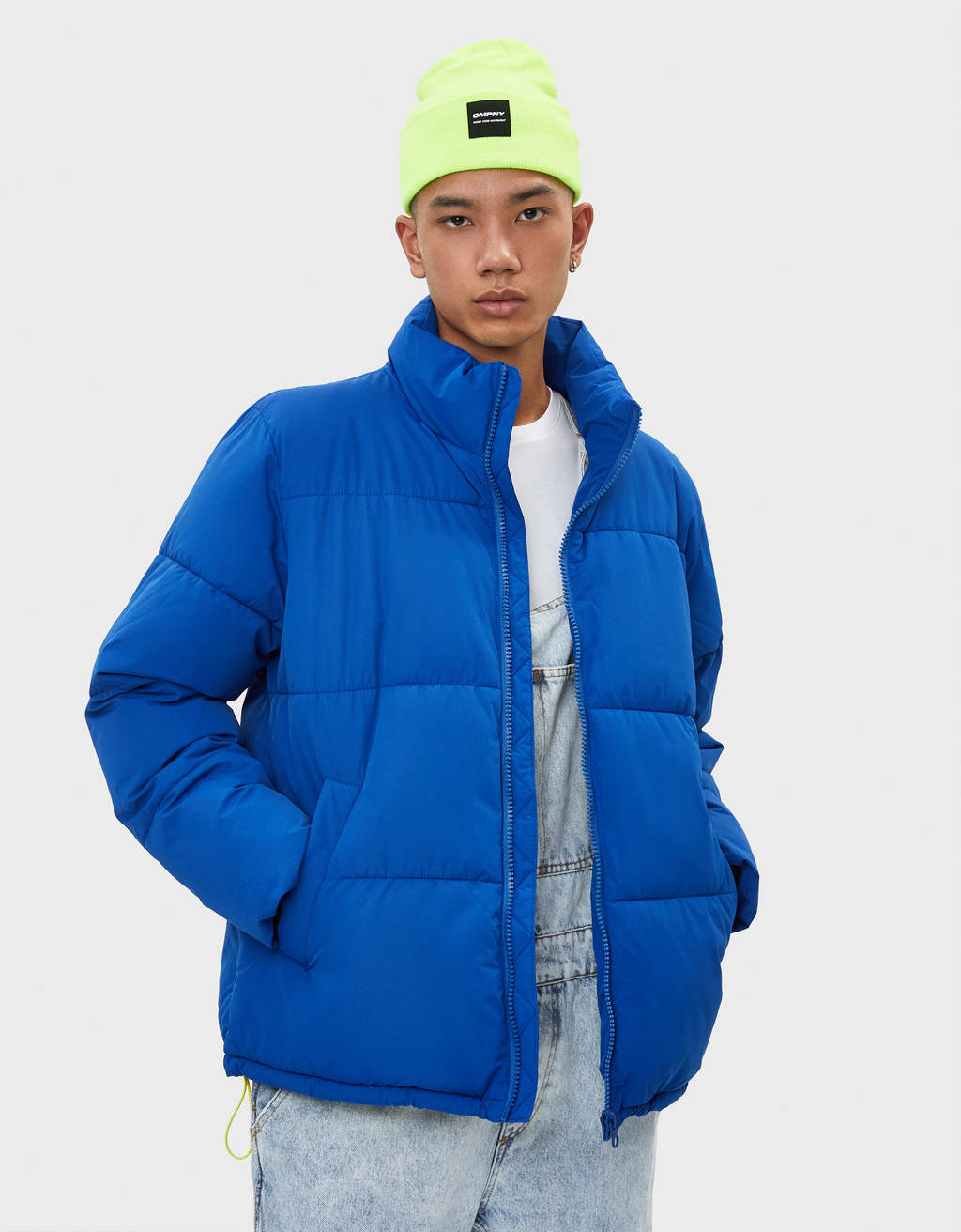 Puffer jacket with contrast trims