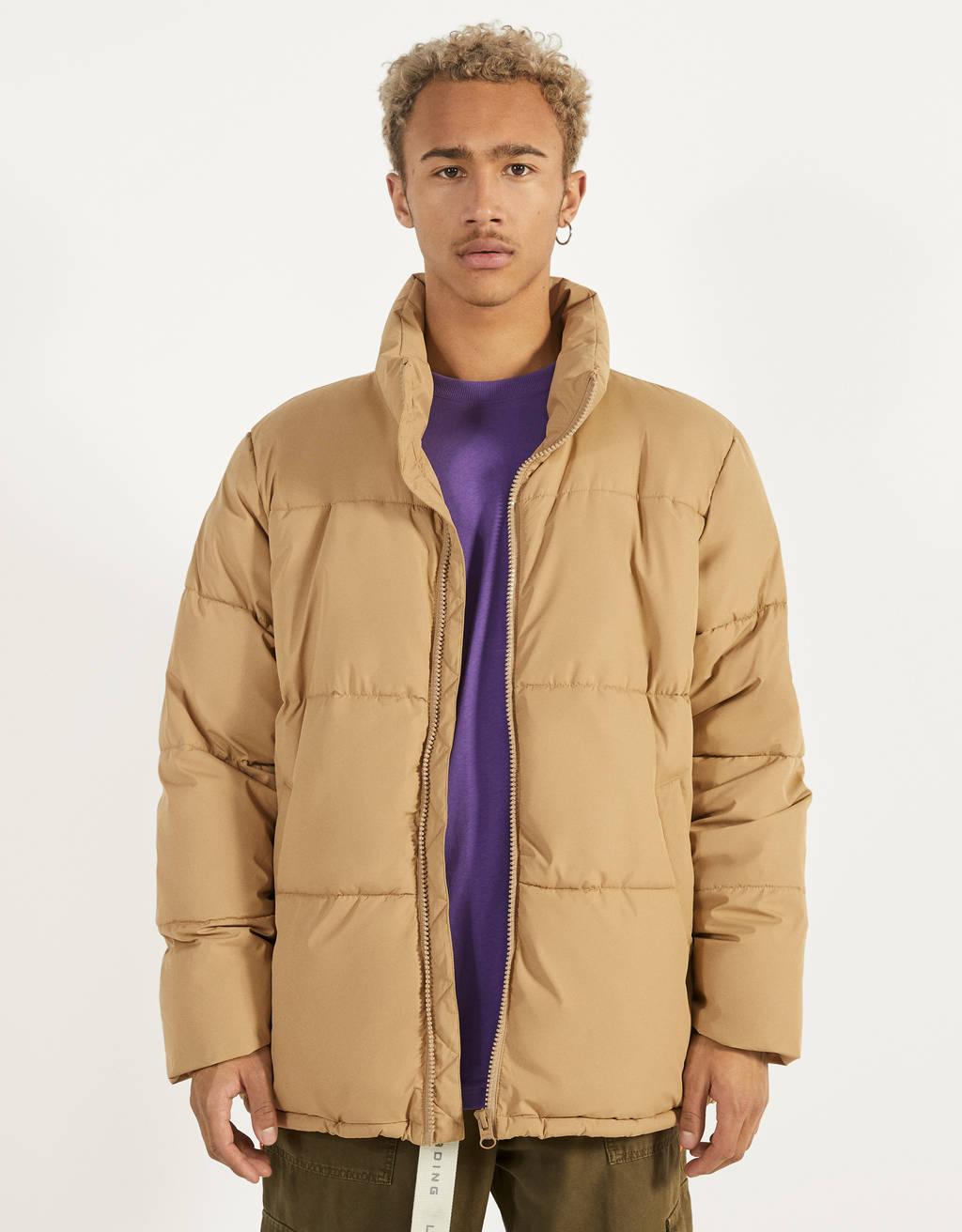 Куртка-пуховик с контрастной отделкой