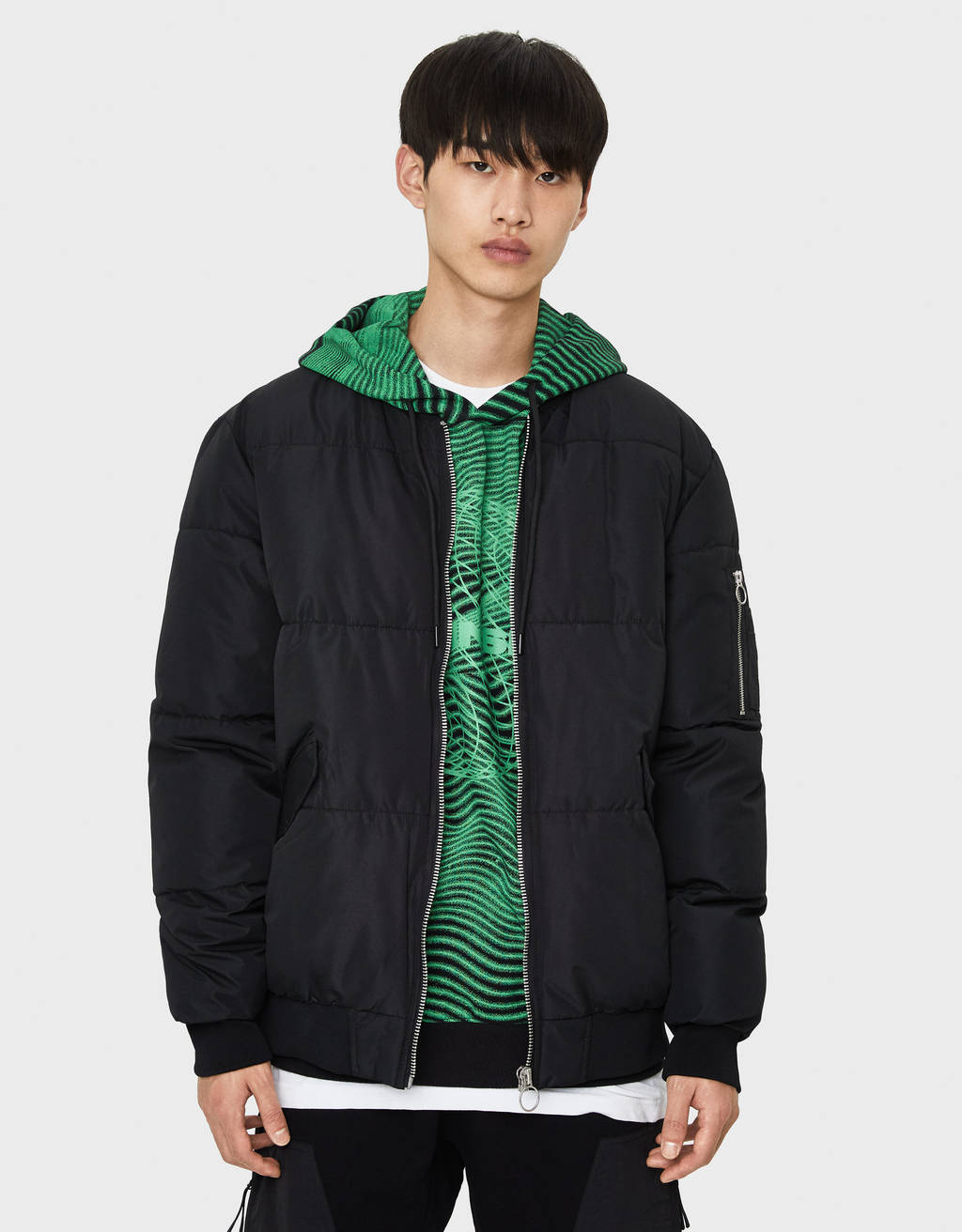 Bomber jacket puffy
