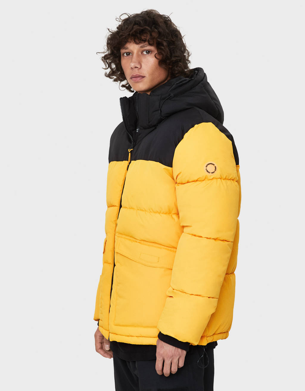 Two-tone puffer jacket