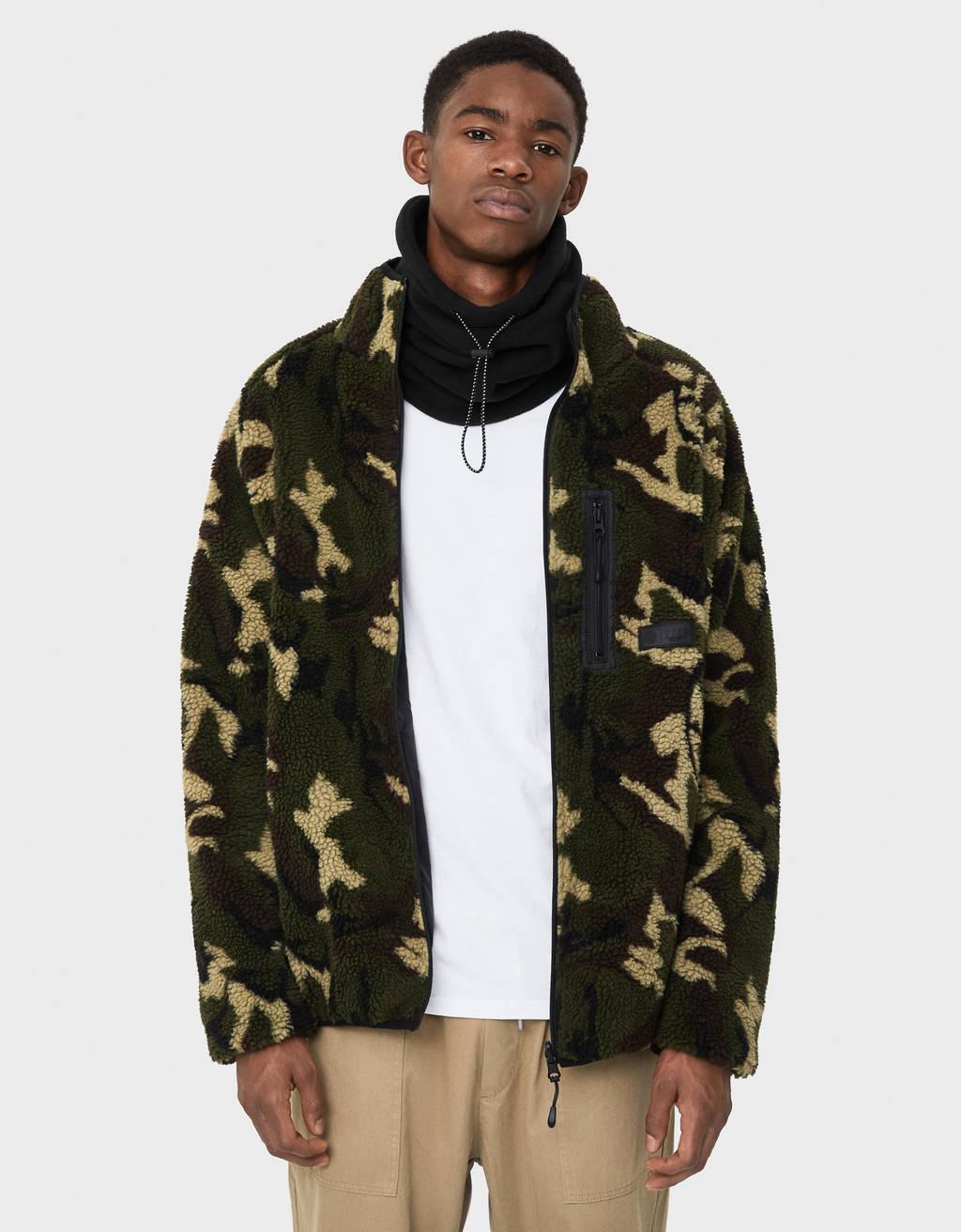 Reversible faux shearling jacket