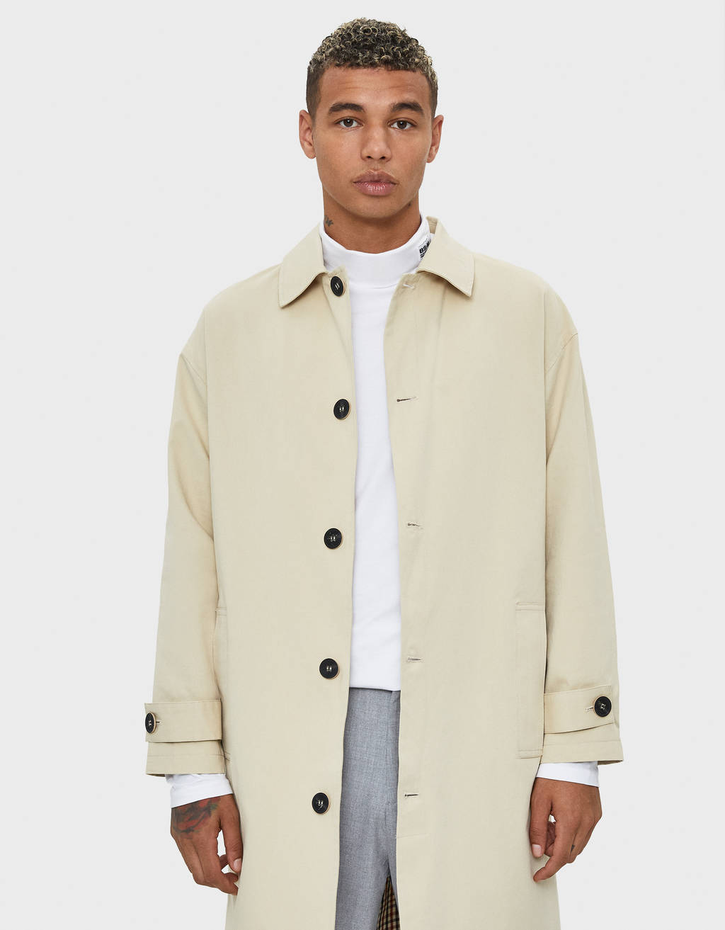 Long cotton coat