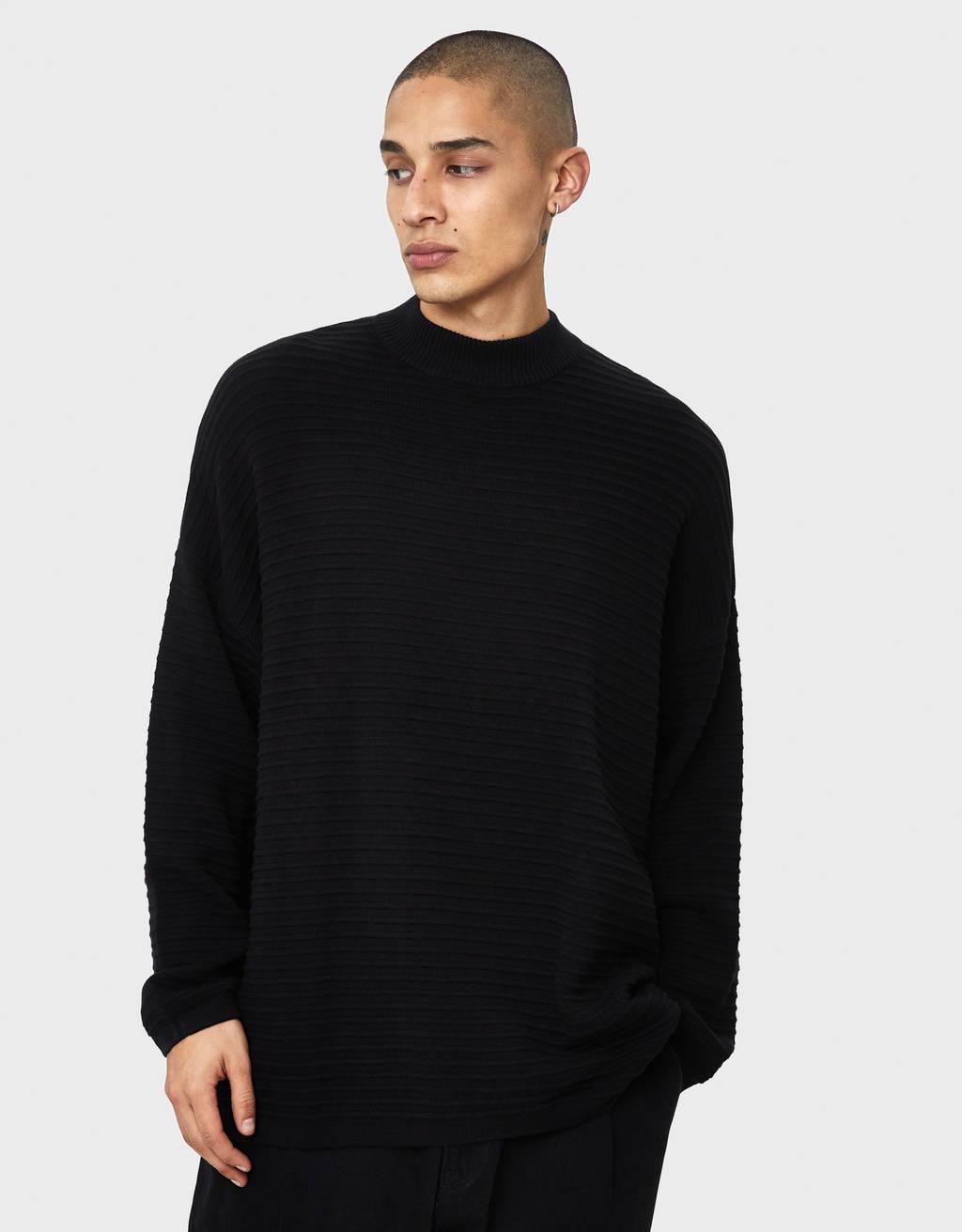 Sweater ottoman com gola perkins