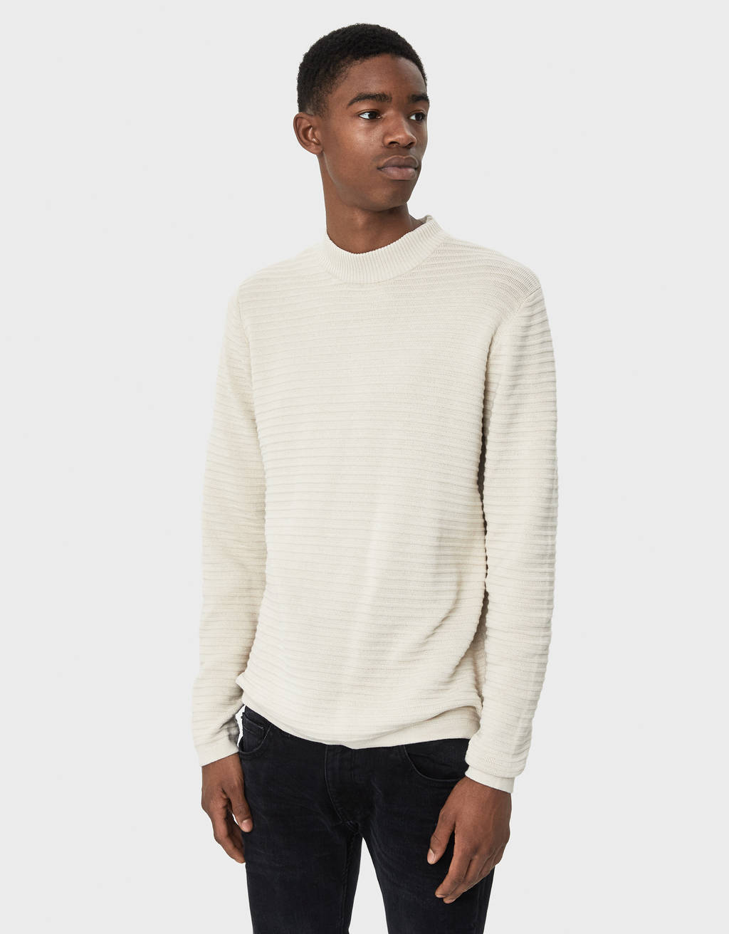 High neck Ottoman sweater