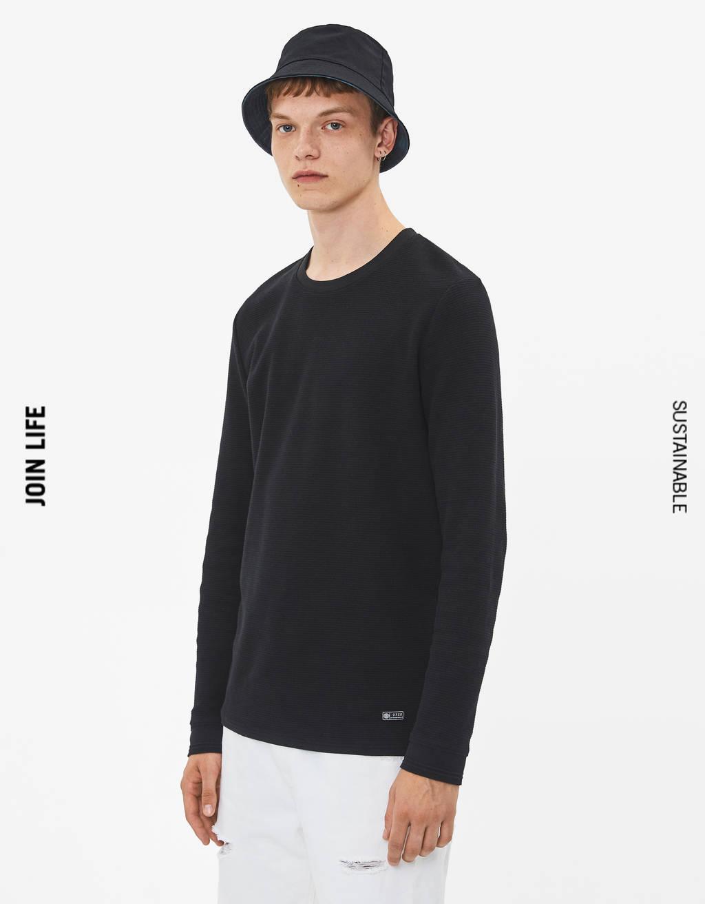 Pullover mit Waffelgewebe