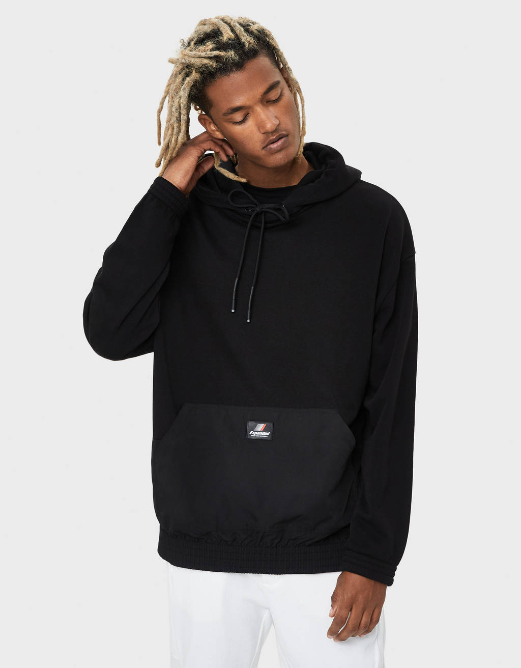 Sweatshirt with side zip
