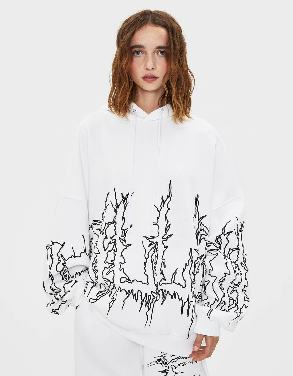 Sweat à capuche Billie Eilish x Bershka
