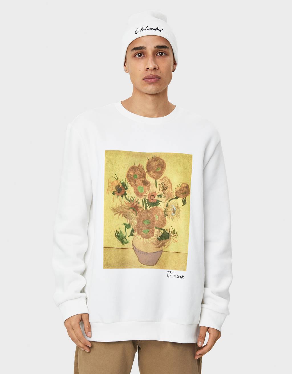 Van Gogh print sweatshirt