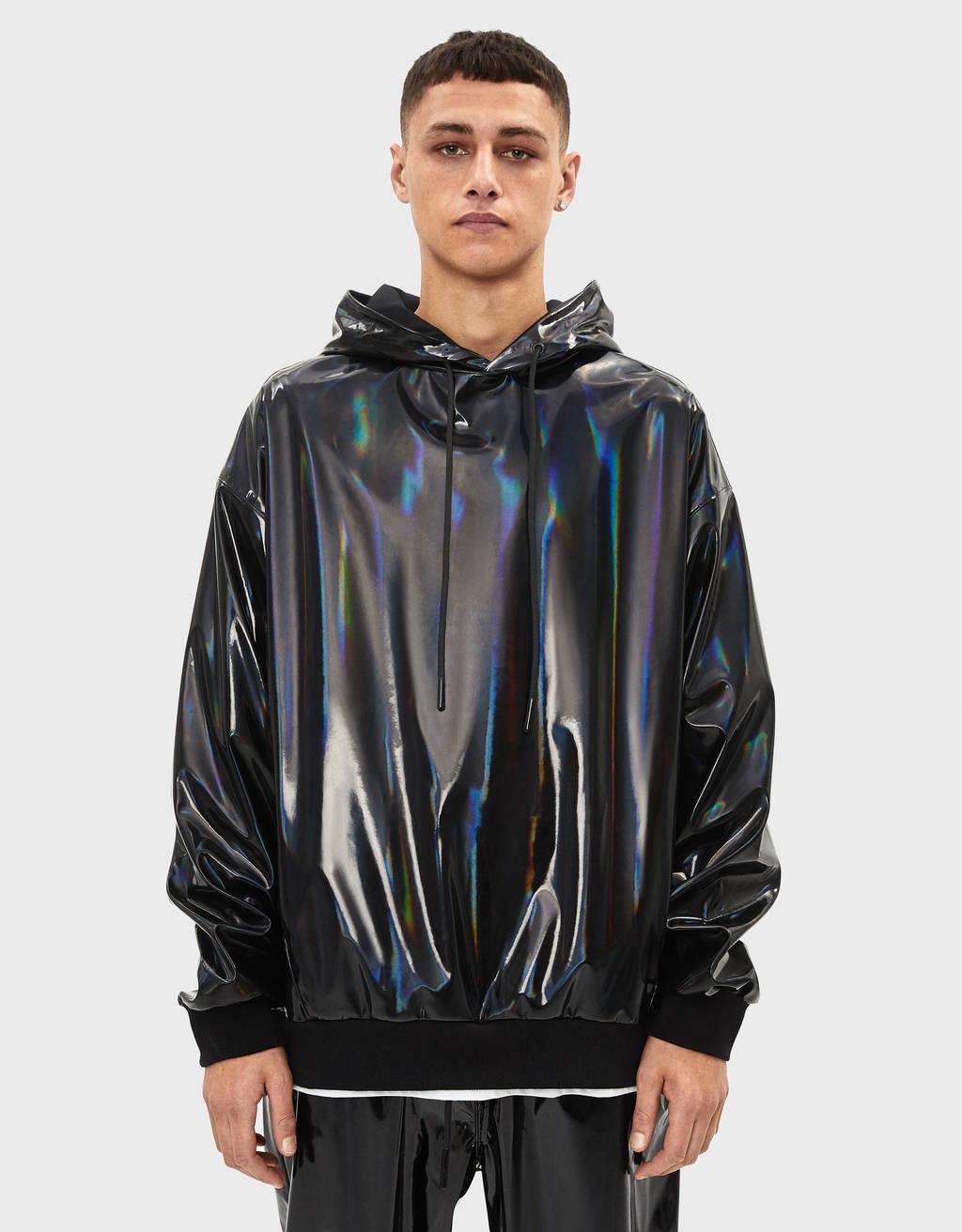 TIDAL x Bershka vinyl effect hoodie