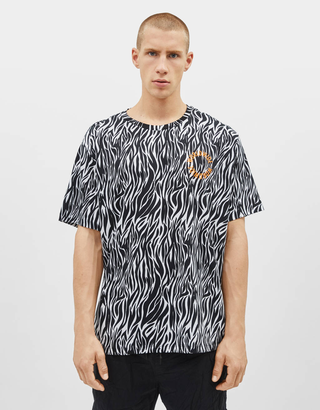 T-shirt med animal print