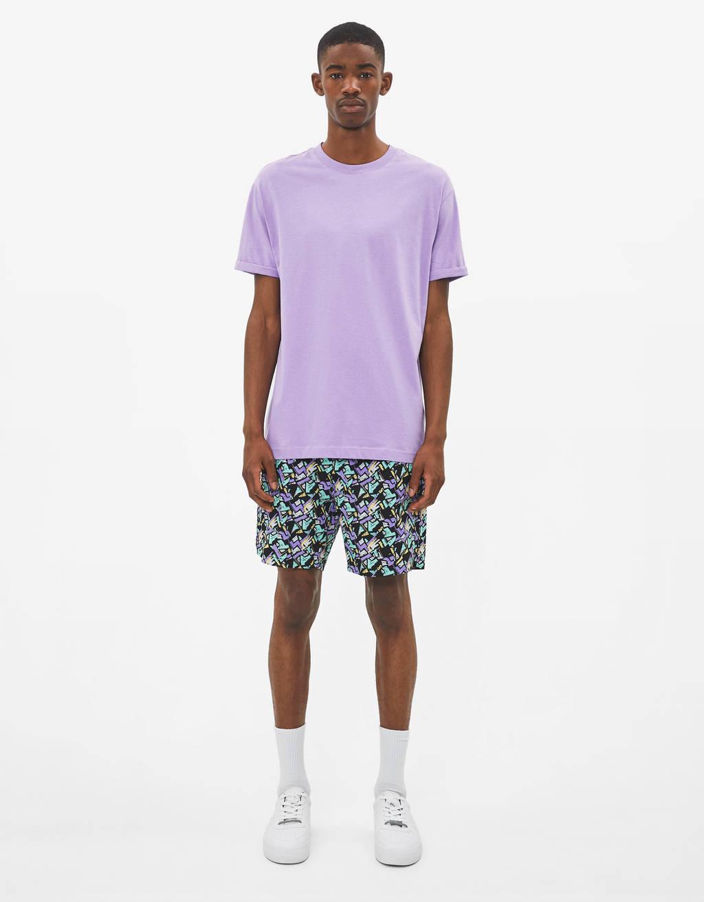 Bermuda hlače s potiskom 90'S