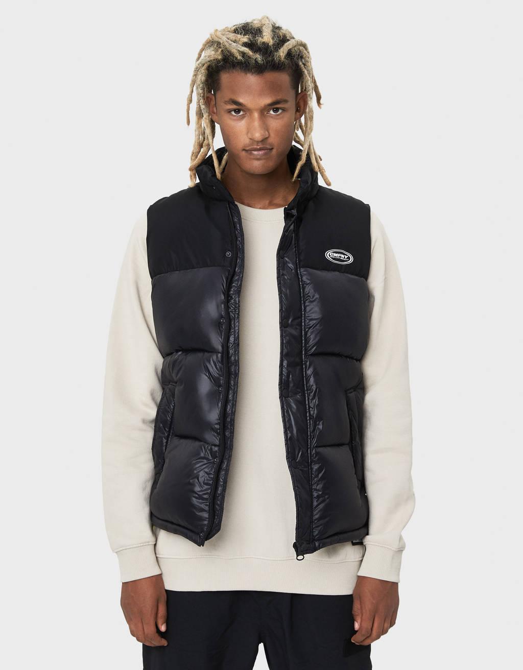 Двухцветная куртка-пуховик