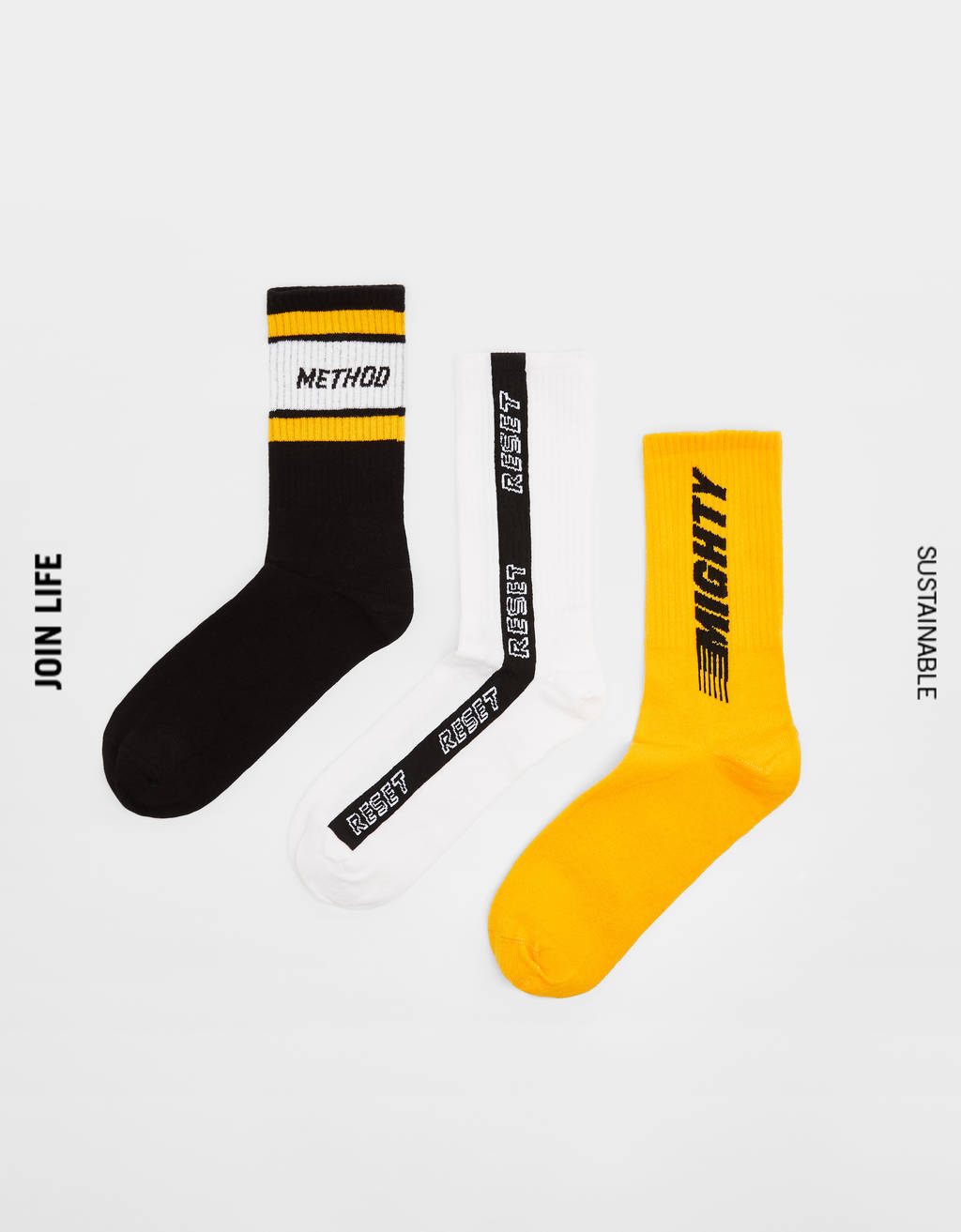 Pack of socks with slogan