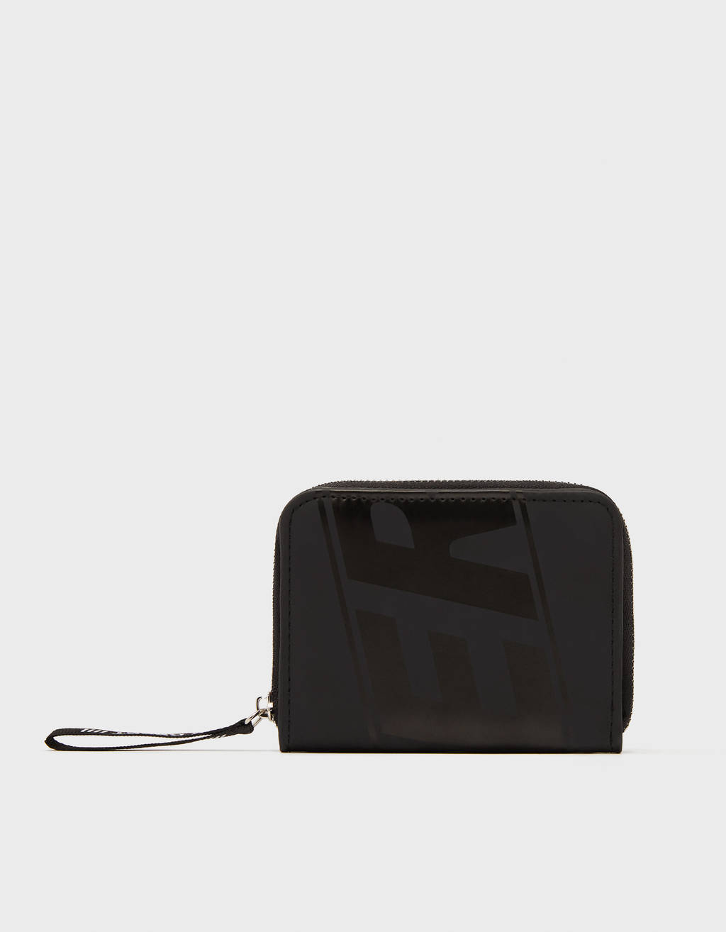 Faux leather wallet with print