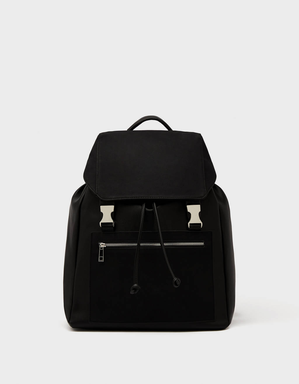 Backpack with metal detail