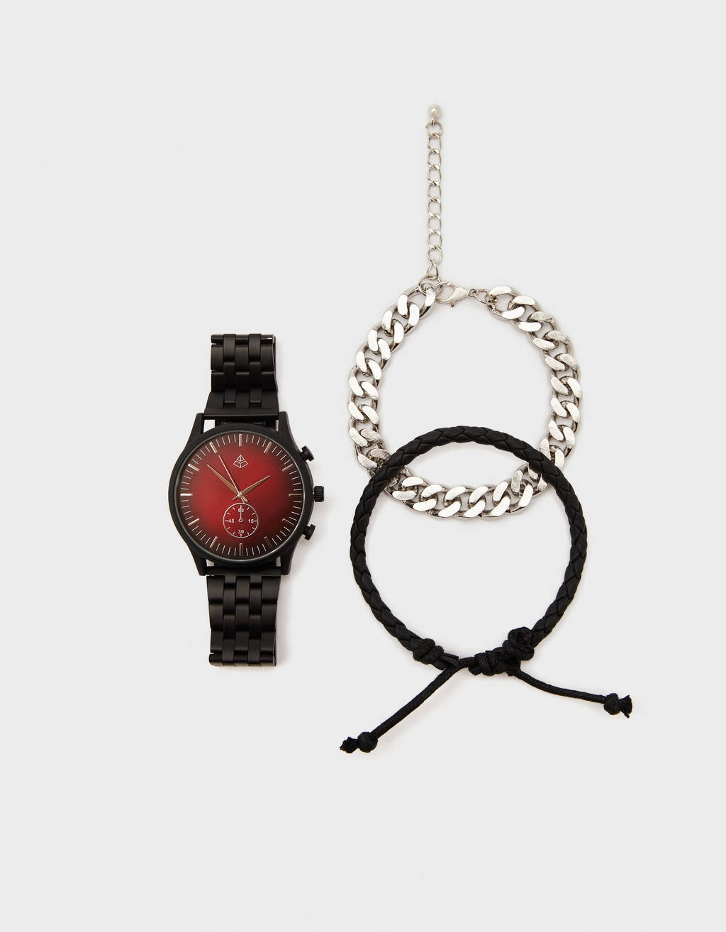 Set with watch and bracelets
