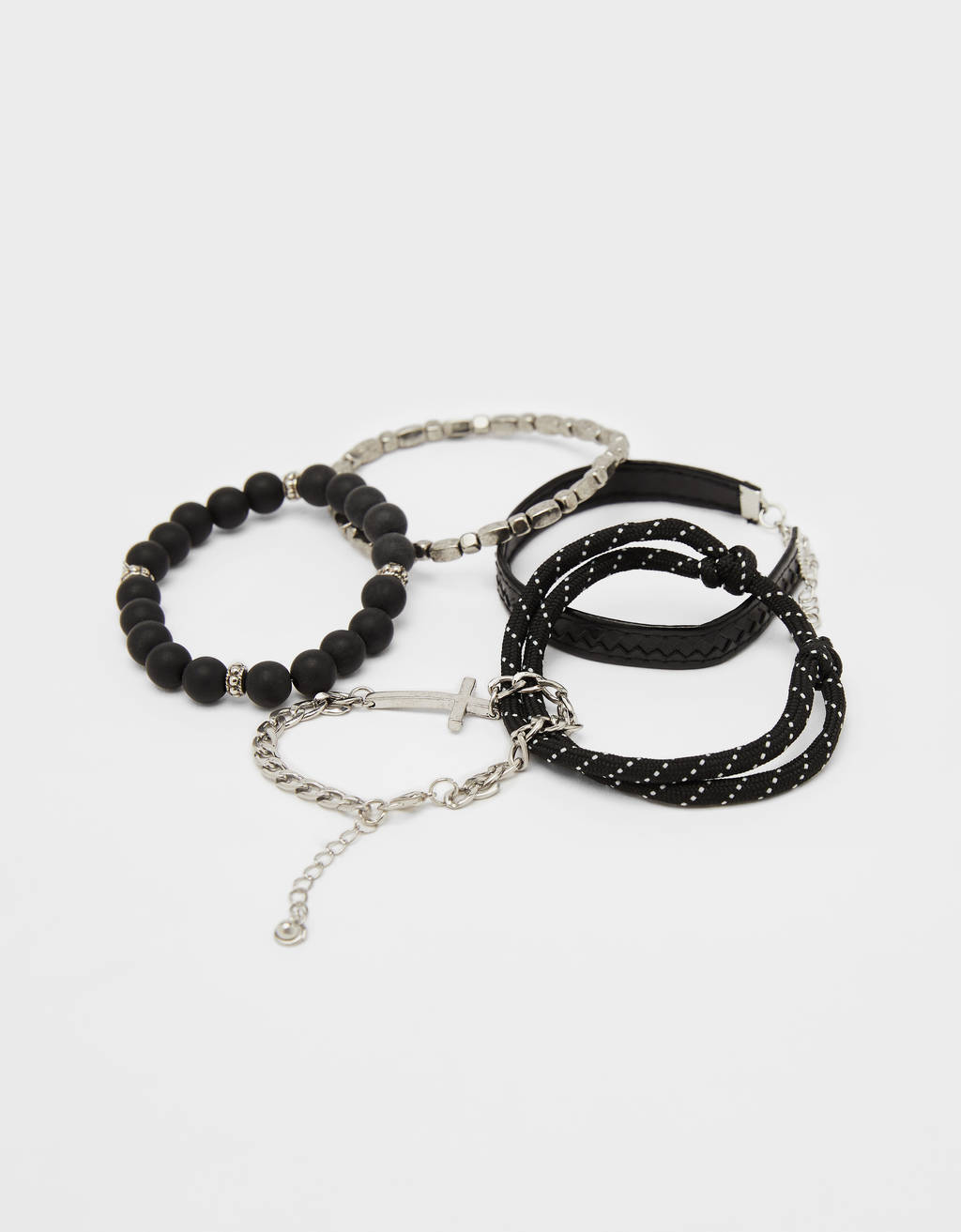 Set of bracelets with cross