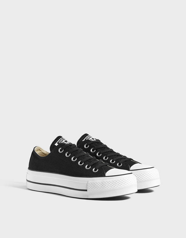 converse mujer plataforma grises