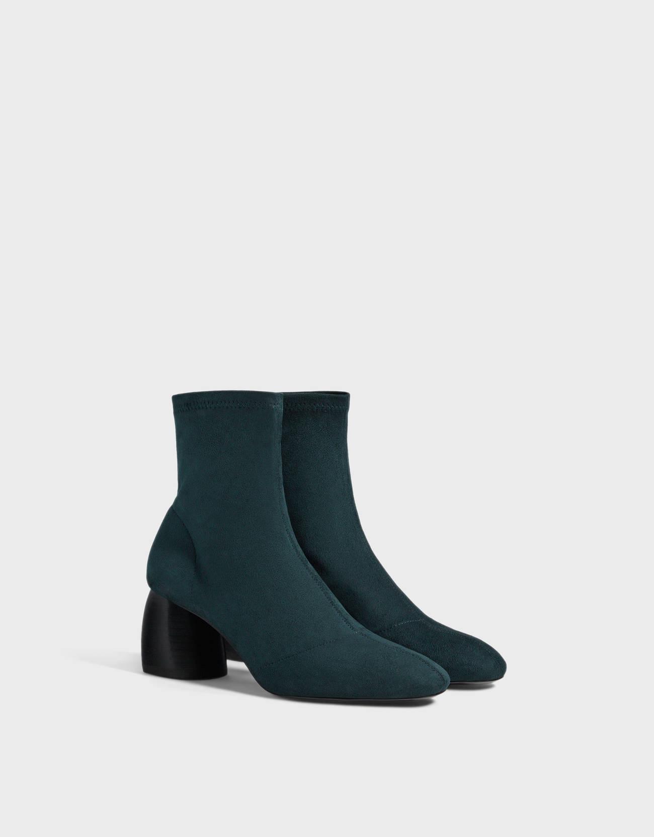 Botines tacón calcetín