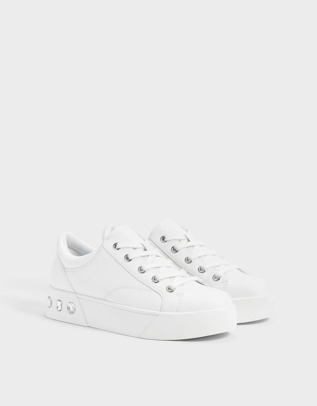 Embossed trainers with gems