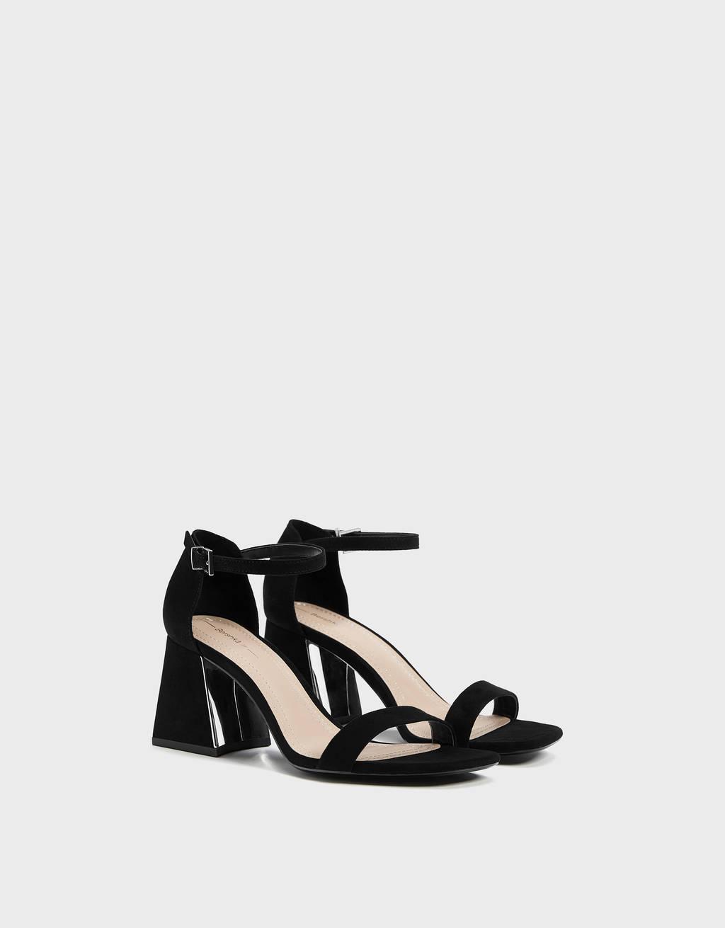 Sandales talon métallisé