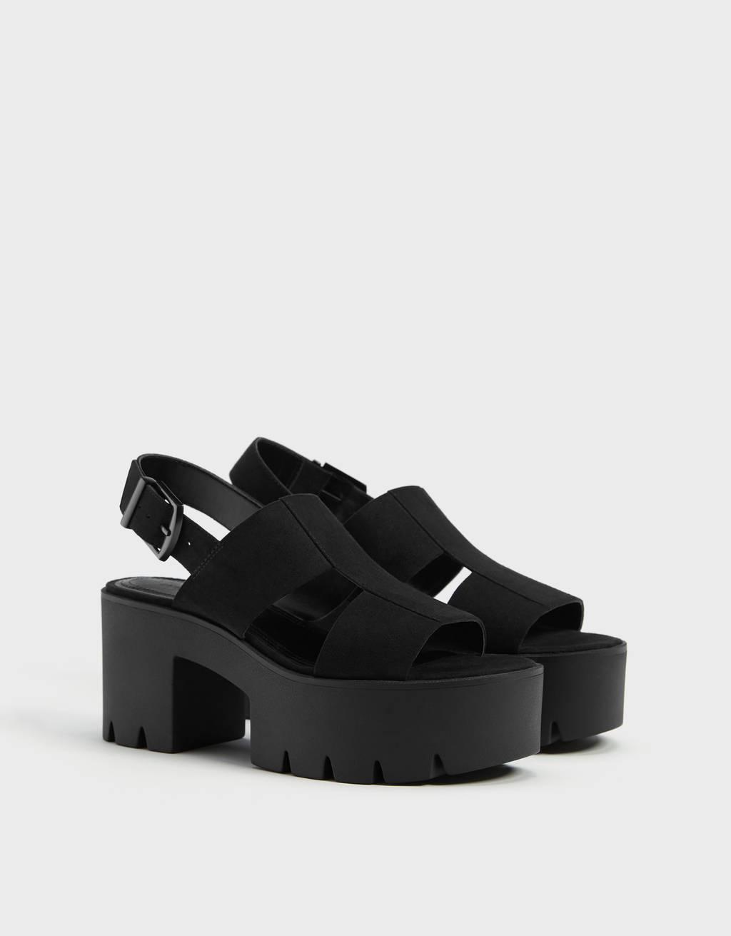 Sandales plateforme brides