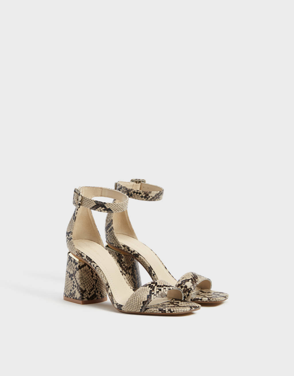 Sandales talon animal print