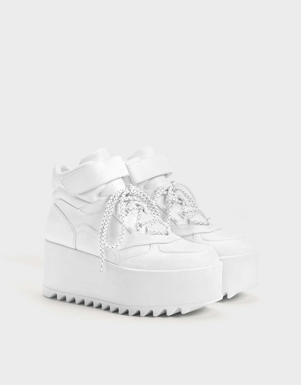 Platform high-top sneakers
