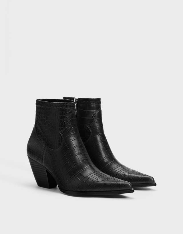 0de361f1cb7 Cut-out ankle boots with buckles - Shoes - Bershka United Arab Emirates