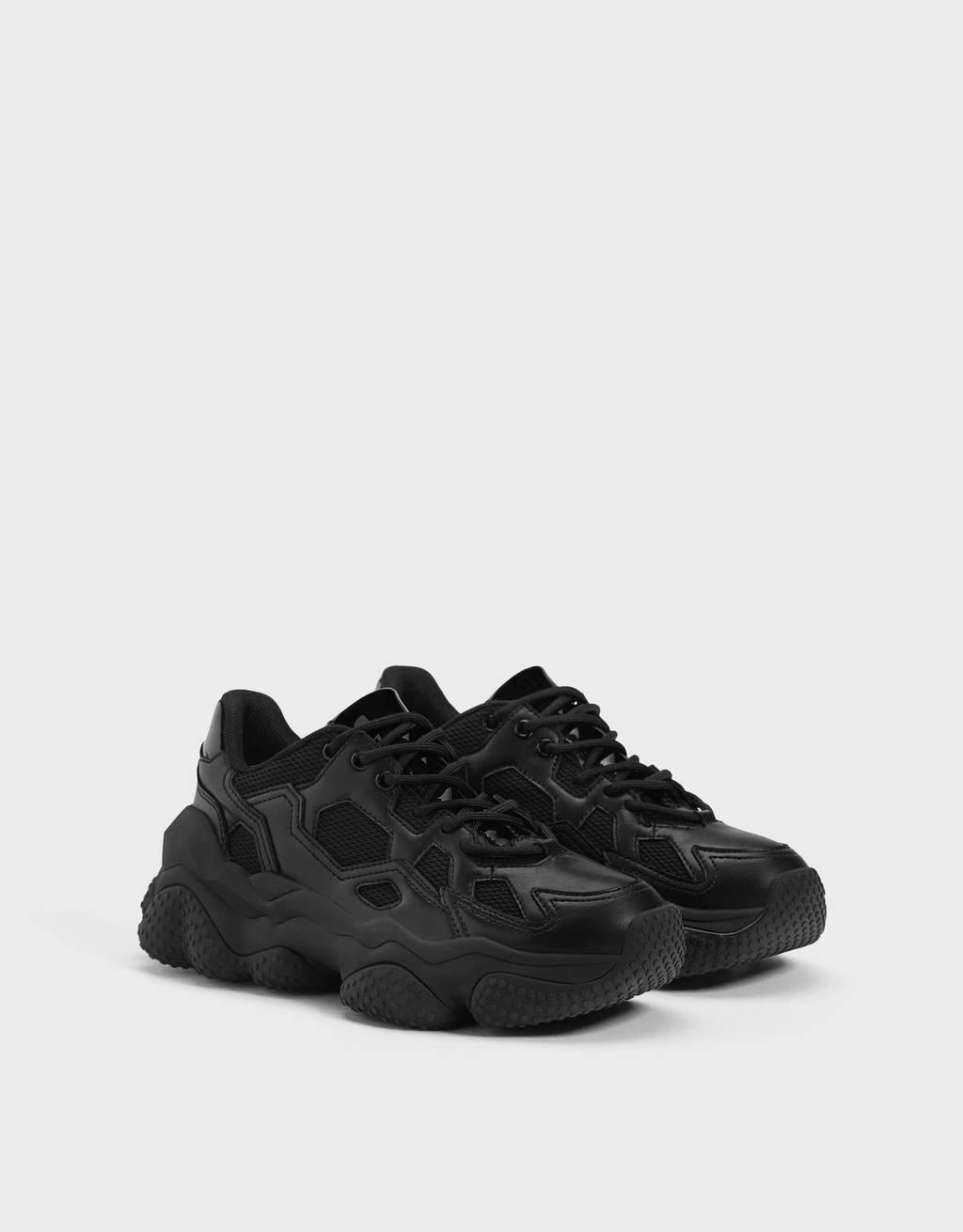 Sneaker Billie Eilish x Bershka mit XL-Sohle