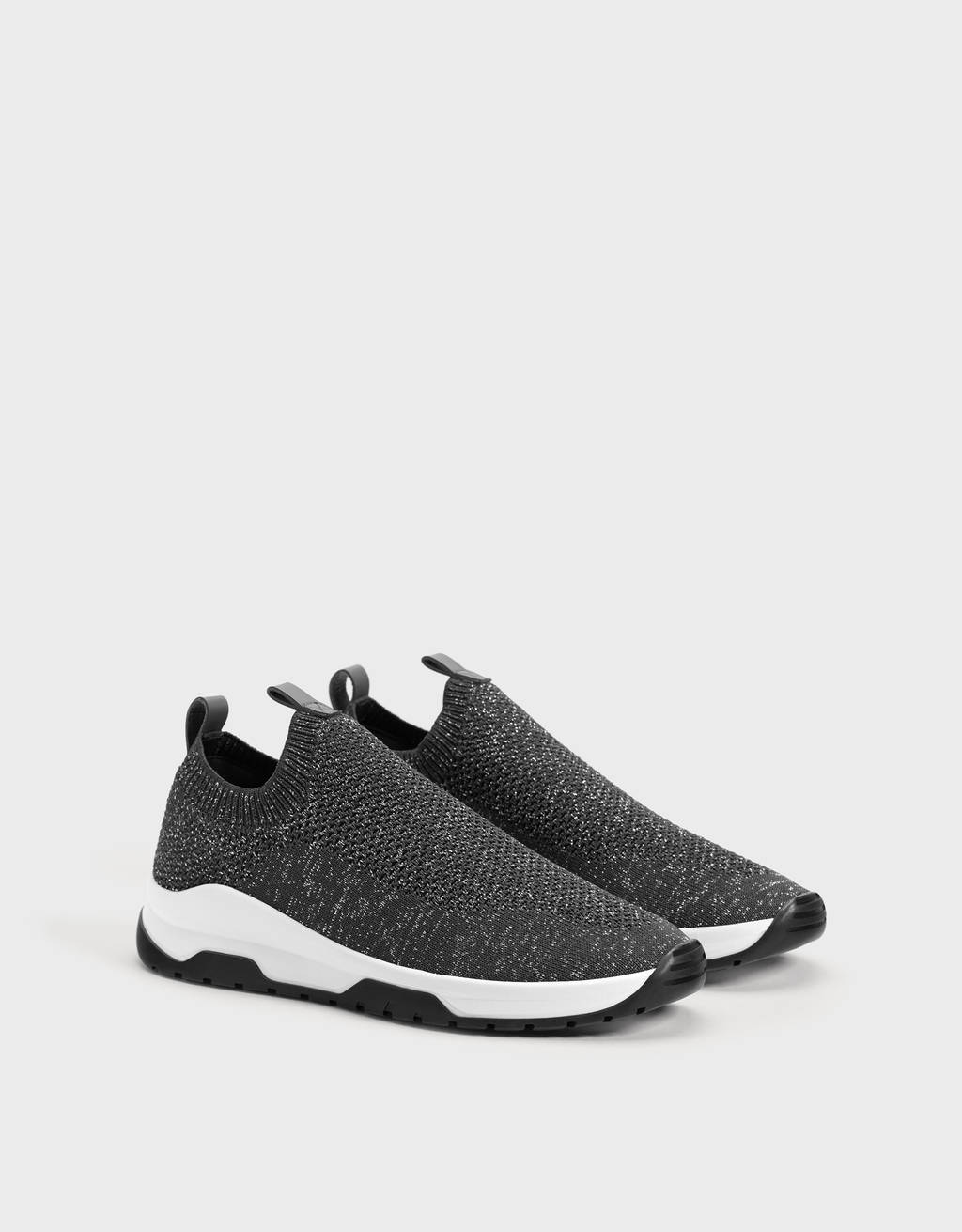 Mesh sock-style trainers